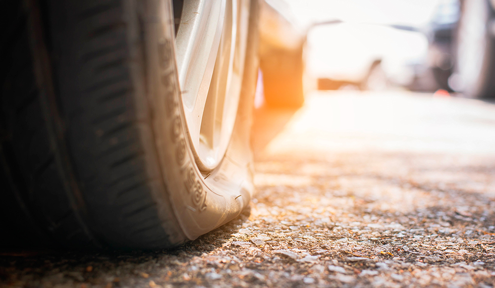 pneus murchando rapidamente
